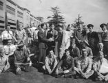Leonard Firestone greets wounded soldiers