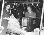 TV set for wounded Marines