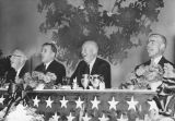 Eisenhower enjoys a hearty laugh