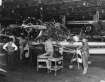 Working on British training planes