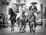 Horse riders in Mexican attire
