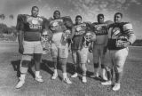 Offensive line at Crenshaw High