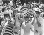 Youngsters blow horns at Salute to Israel Parade