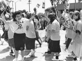 Yula High School girls march in parade