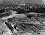 Construction of Dodger Stadium