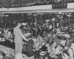 Roy Wilkins speaks at conference
