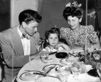 Crooner Frank Sinatra and family