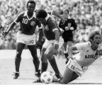 Pele springs into action