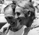 Ralph Branca and Bobby Thomson