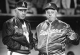 Managers Gene Mauch and Tom Lasorda