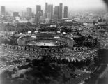 Dodger Stadium and downtown