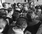 Tarkenton talks to press