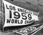 Unveil Dodgers championship pennants