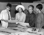 Edith Head and USC guests