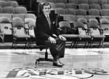 Chick Hearn smiles for camera