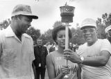 Mayor Bradley, Gwen Loud and Jesse Owens