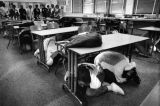 Duck and cover, earthquake drill
