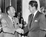 Mayor Sam Yorty and Ronald Reagan