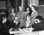 Film actresses with their mothers, Hollywood Canteen