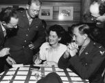 Rosalind Russell at the Hollywood Canteen