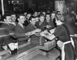 Hungry servicemen at the Hollywood Canteen
