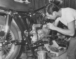 Motorcycle-repair trainee