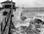 Manhattan Beach pier damaged