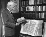 Dr. Edgar Goodspeed with two early Bibles