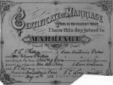 Phillips' marriage certificate