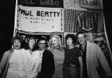 Celebrities with the AIDS quilt