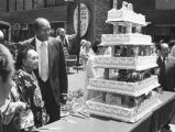 Celebrating Chinatown's 50th Anniversary with a large cake