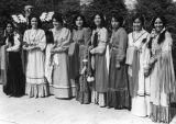 Native American wedding party