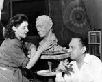 John Barrymore models for sculptress