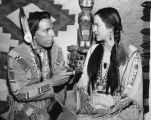 Iron Eyes Cody in ancient art for hobby show