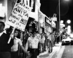 Gay demonstration on Sunset Boulevard