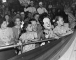 Joe E. Brown and daughters at the circus