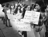 Students protest boundary change