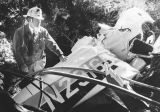 Wreckage of crash in Griffith Park