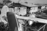 Wreckage of Compton plane crash
