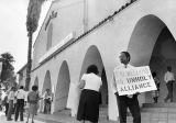 Protesting at Mount Zion Missionary Baptist Church