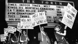 Athletes protest Soviet invasion at track meet