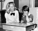 Mrs. Edward M. Kennedy visits Child Study Center