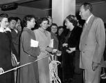 Dorothy Lamour and husband greet fans