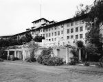 Ambassador Hotel grounds, south wing facade