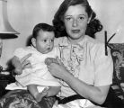 Joan Barry and baby, Carol Ann