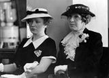 Mary Miles Minter with mother in court