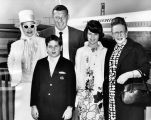 Lucille Ball, family on their way to Hawaii
