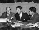 Errol Flynn with attorneys