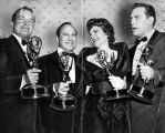Raymond Burr with other Emmy winners