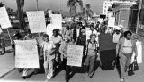Tom Hayden marches with Venice elderly on Medi-Cal